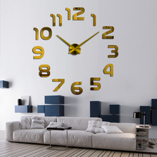 top fashion 3d wall clock reloj de pared quartz watch modern diy clocks living room large decorative horloge murale  stickers