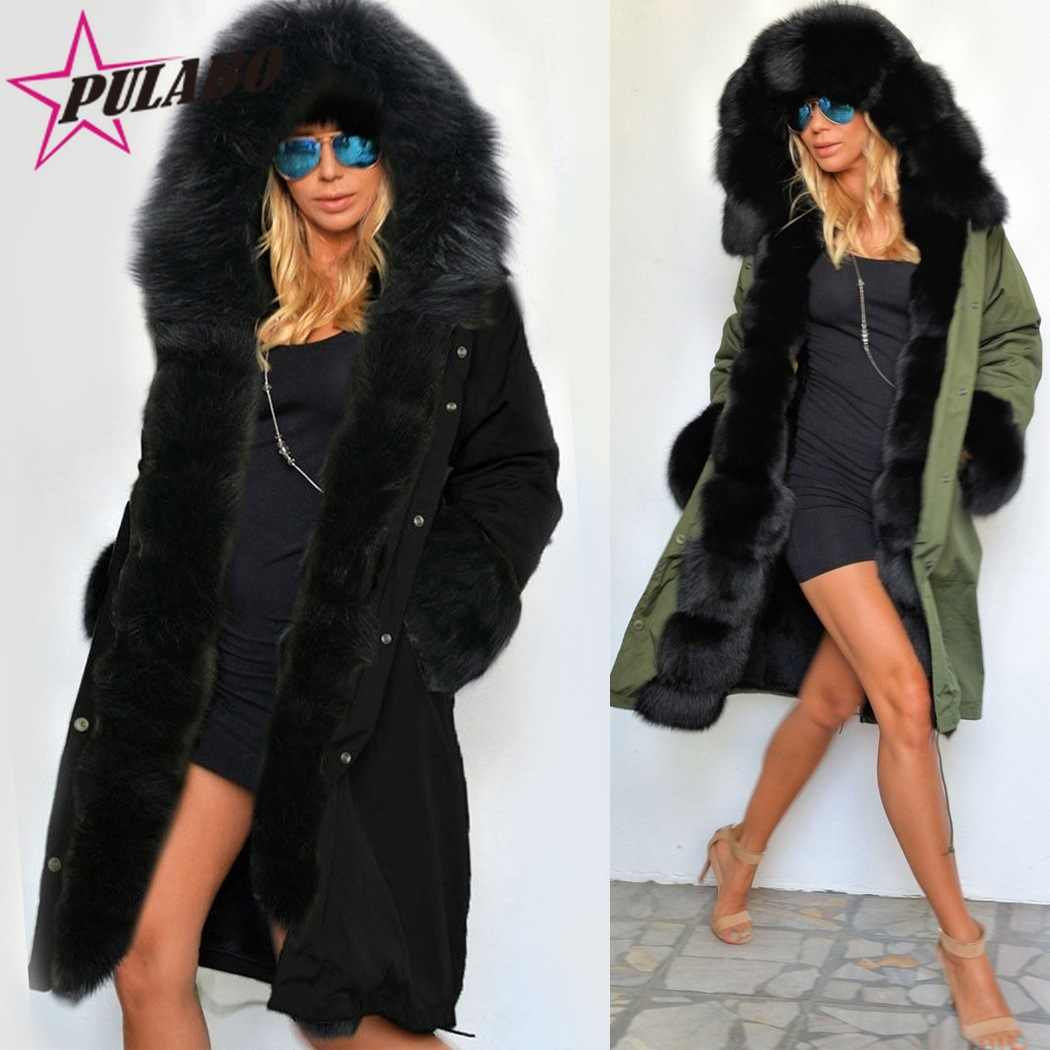 6cb43de73ac4 ... Fashion Winter Warm Coat Hooded Parkas with Faux Fur Collar Camouflage  Coats Long Sleeve Warm 2017