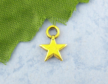 Doreen Box Lovely 170PCs Antique gold color Pentacle Charms Pendants 8*11mm Findings (B00996)