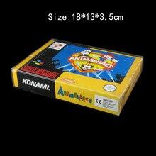 10 sztuk/partia przezroczysty dla SNES dla N64 pudełko do gry futerał ochronny CIB gry plastikowe PET Protector dla gra na nintendo pudełka