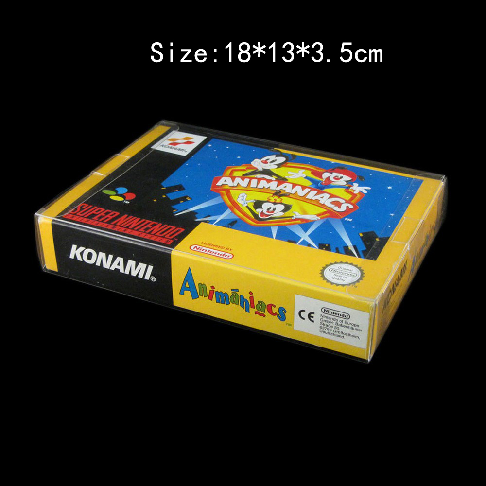 10pcs lot Clear transparent for SNES For N64 Game box Protector Case CIB games plastic PET Protector for Nintendo game boxes