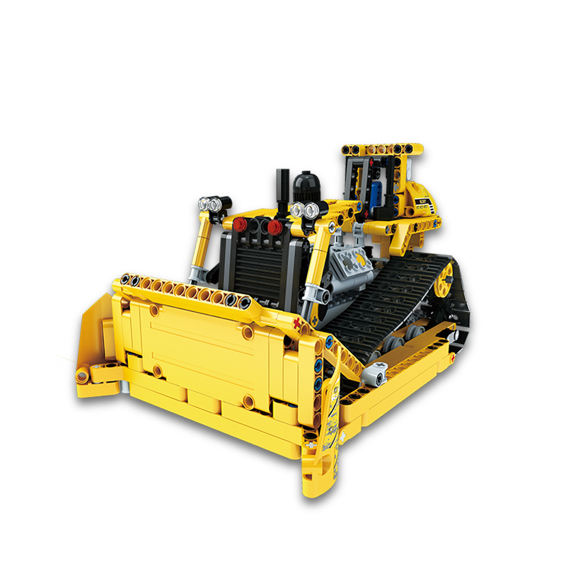 389-537PCS DIY Dumper Truck Building Blocks Car Technic Mechanical Power Bulldozer Construction Toys For Boys Children 1