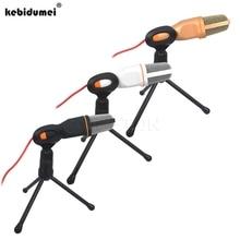Kebidumei micrófono condensador estéreo con cable, con Clip para chatear, cantar, Karaoke, PC, portátil, SF 666, 2019