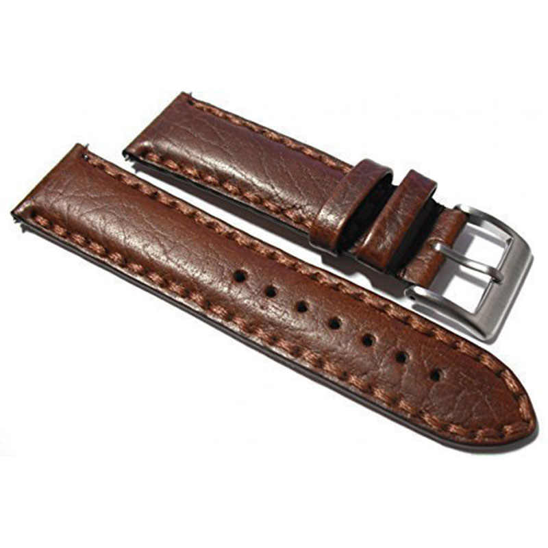 New Watchband Leisure Durable Fashion 20mm Croco Grain Style PU Leather Watch Band Strap