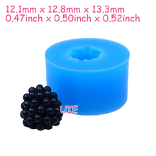 SYL038U 13.3mm 3D Fruit Blueberry Silicone Mold – Fruit Mold Cupcake Topper, Fondant Craft, Jewelry, Miniature Food, Resin Mould