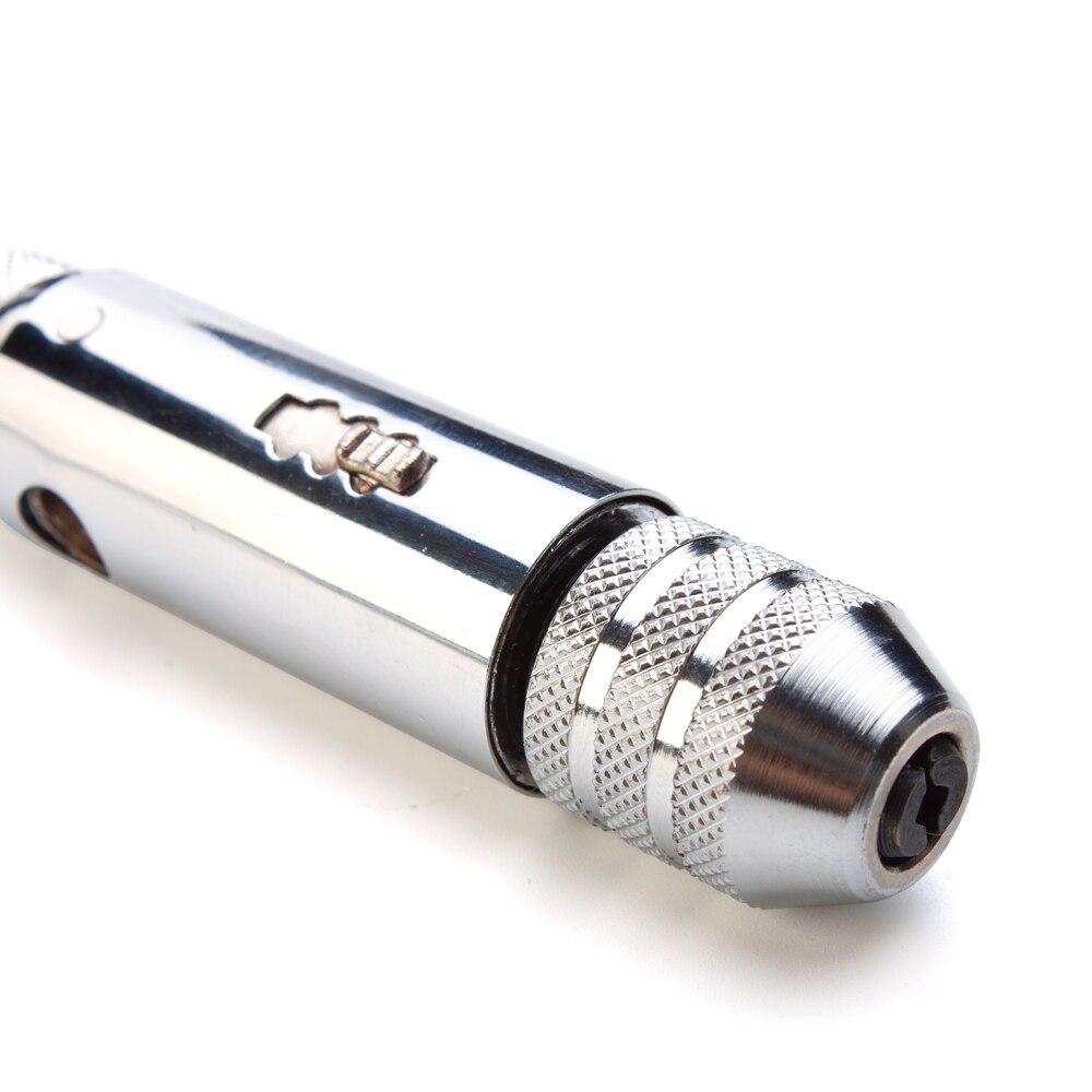 6 шт./компл. Т-образная ручка, дюймовый стандарт гаечный ключ с трещоткой с M3-M8 винторезы для измерения резьбы Вилки слесарный ручной инструмент набор инструментов для нарезания наружной и внутренней резьбы