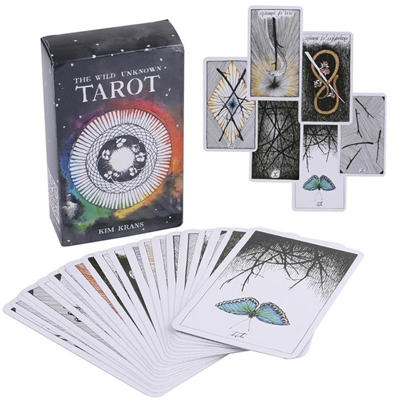 English Wild-Unknown Tarot Deck Magical Animal Totem Tarot Cards Board Game Adults Cards Game Guidance 78 Cards/set