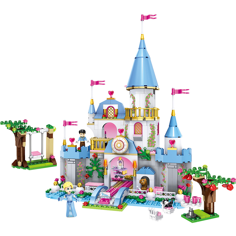 669pcs Children s building blocks toy Compatible city friends girls Cinderella s Romantic Castle Bricks birthday