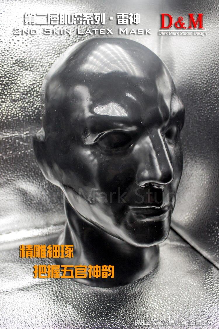 DM 100% natural full head human face latex mask rubber hood SM suffocate Mask  -  Amanda Lycra Zentai store