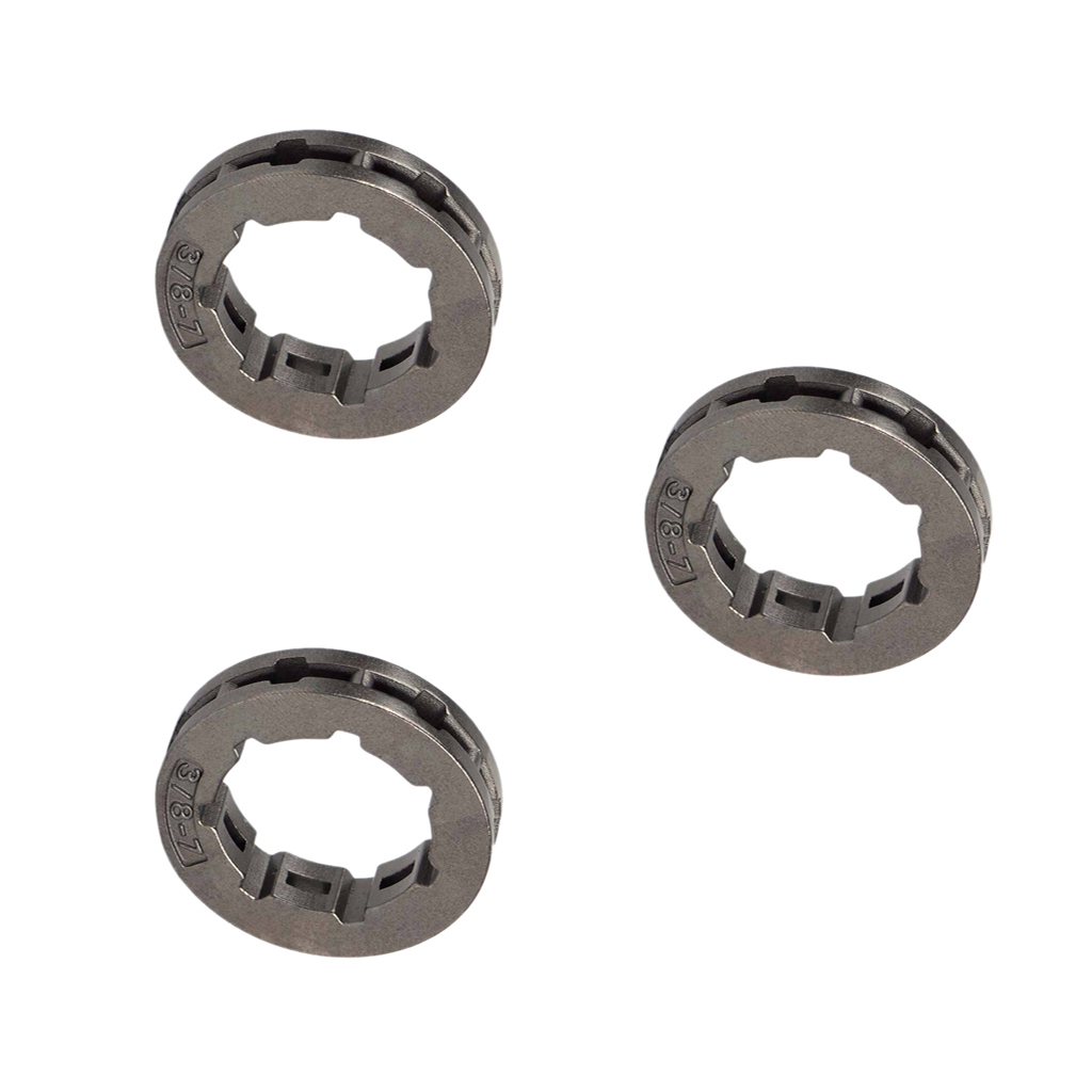 3 piece Chain Clutch Rim Sprocket 3/8 inch 7T for Chainsaw STIHL Replacement chainsaw clutch drum chain sprocket 3 8 picco 6t with needle bearing fit stihl ms210 230 ms250 oem 1123 640 2073 1123 160 2050