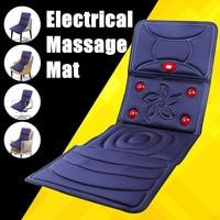 Electric Heat Infrared Massager Chair Cushion Vibrator Portable Home Car Office Neck Lumbar Waist Pain Relief Seat Pad Relax Mat