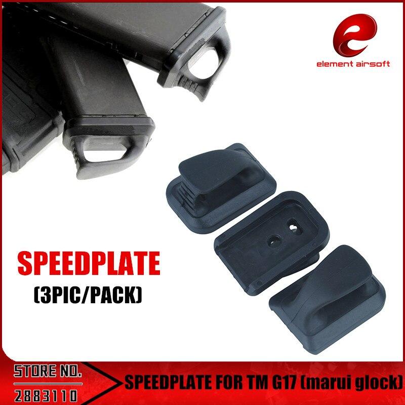 Elemento airsoft espeed Placa de nylon plástico para TM G17 G18C G19 G26 PA0208