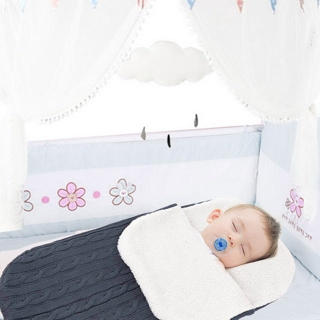 Urijk Высокое качество Зима Осень Теплый для новорожденных вязаный спальный мешок мягкие детские предметы для новорожденных одеяла спальный мешок