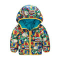 2016 Toddler Baby Boy Girl Clothes Winter Autumn Thick Cartoon Warm Hooded Zipper Padded Coat Winter Outwears New Arriving