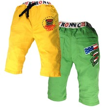 5-8Y Boys Summer jogging Trousers letters numbers Print Pockets Canter big size Sport wear MH3706