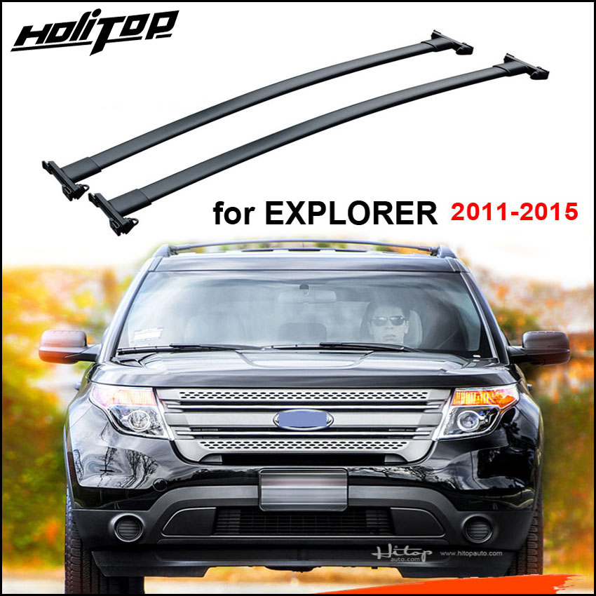 Aluminum luggage carrier bar roof rack roof rail for ford Explorer 2011 2015 low profit for