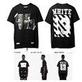 2017 Moda Hip Hop Streetwear PIREX Off White 13 Listrado Impressão primavera Verão de Algodão de Manga Curta T shirt For Men Mulheres S-XL TB