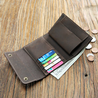 SIKU men's leather coin purses holders fashion wallet female famous brand wallet case