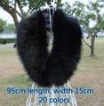 Осень и зима женщин искусственный мех енот лисий мех воротник-шарф большой лисий мех шарф 95 см 20 цветов