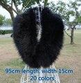 Free shipping 2015 autumn and winter womens faux fur raccoon fox fur scarf collar big high quality fox fur scarf 95cm 20 colors