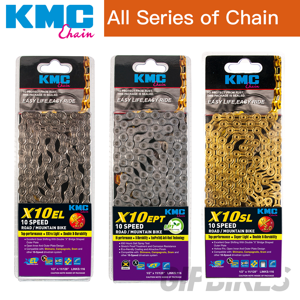 KMC MTB Road bicycle chain X10 X10SL 10 speed for Shimano Campagnolo and SRAM