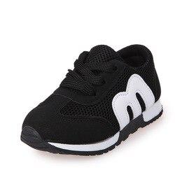 Crianças primavera outono meninas meninos crianças tênis de malha plana bebê respirável sapatos esportivos meninas da moda tênis