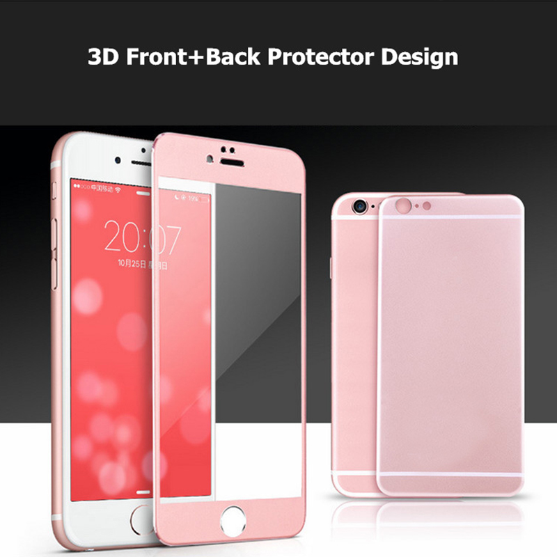 3D Front and Back Metal Titanium Alloy 360 Full Cover For Apple iPhone 6 6S Plus 7 iPhon6s Screen Protector Tempered Glass Case ...