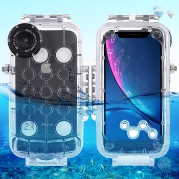 PULUZ 40m / 130ft Waterproof Diving Housing Photo Video Taking Underwater Cover Case for iPhone XR