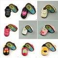 Моды Натуральная Кожа Новорожденного Малыша Дети Впервые Ходунки Жесткий Резиновой Подошве Открытый Обувь Малыша Мокасины Moccs Детская Обувь