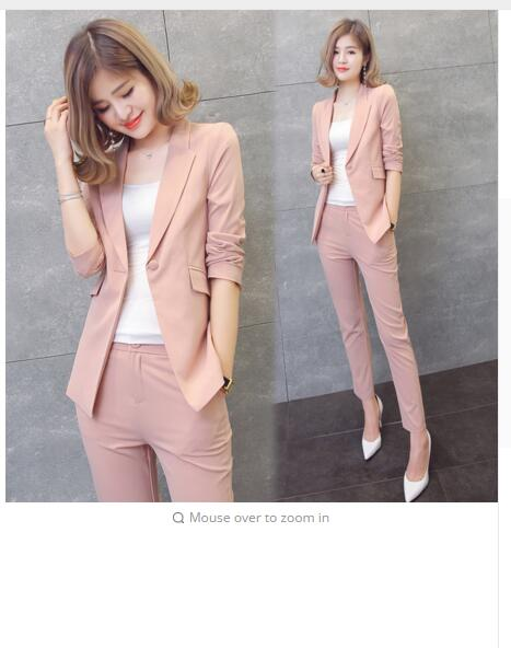 Chiffon small suit suit female short section 2017 spring and autumn new jacket fashion leisure ol temperament suits