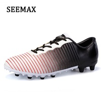 SEEMAX Men Women Non Slip Soccer Shoes Outdoor Lawn Sports Shoes Plus Size Youth Training Long