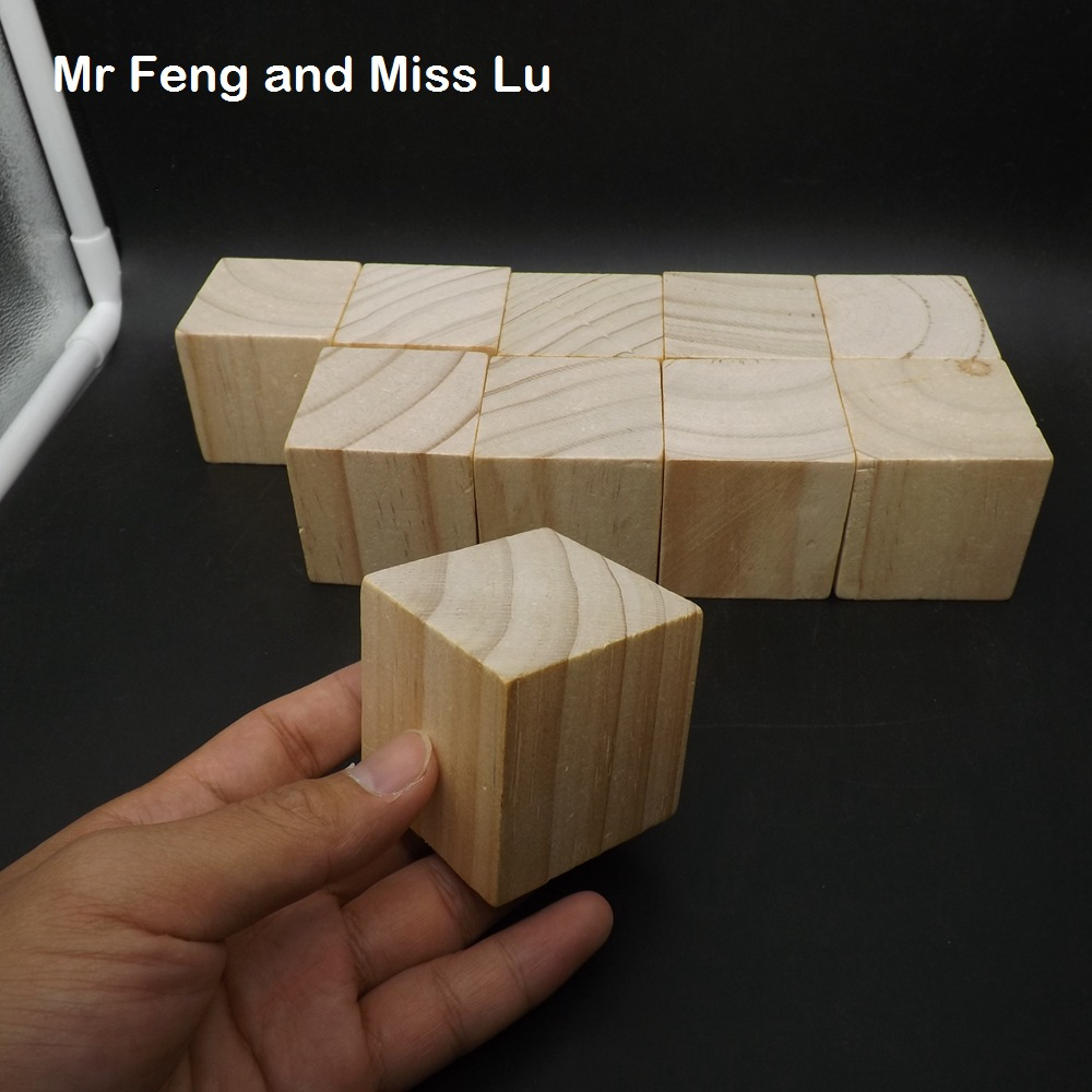 10 pcs 5 cm Wooden Cube Game Gadget Brain Teaser Common Sense Education Toys For Children plywood