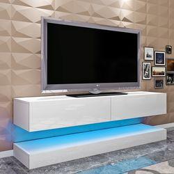 Panana 140 см плавающий шкаф для телевизора, высокий дизайн передней двери, подвесной шкаф для телевизора, современный светодиодный шкаф для гос...