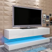 Panana 140 CM Floating TV Cabinet High Gross Front Desigh Door AIRCRAFT Hanging TV Cabinet Modern LE