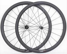 Best qulity 700C width 25mm chinese carbon road bike clincher wheels 38mm with DT 240s disc hub  12 x100 12 x142 axle wheel