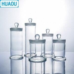 Image 3 - Huaou 90*400 Mm Specimen Jar Met Knop En Grond In Glazen Stop Medische Formaline Formaldehyde Display Fles
