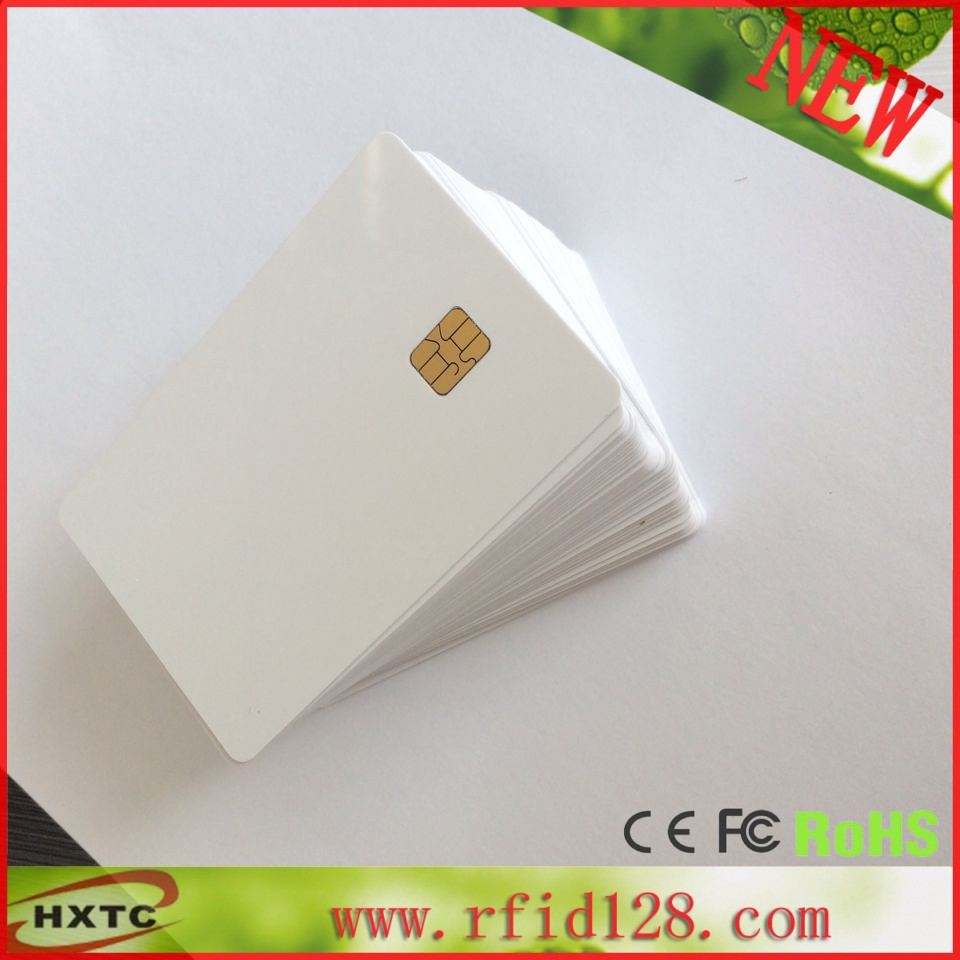 200PCS/Lot Printable PVC Contact Smart IC Card With FM4442/Sle4442 Chip For E pson/Canon Inkjet Printer Suitable Payment System 20pcs lot contact sle4428 chip gold card with magnetic stripe pvc blank smart card purchase card 1k memory free shipping