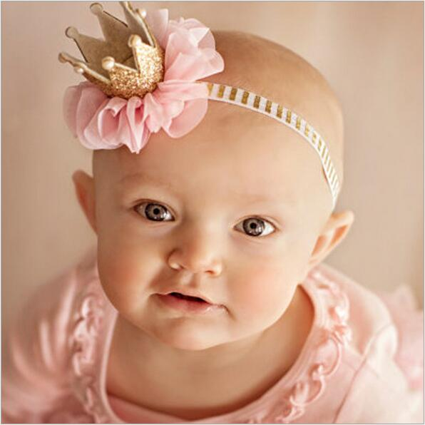 kids girls flower princess crown headband for newborns photography hair accessories kids elastics hair head band wrap ornaments