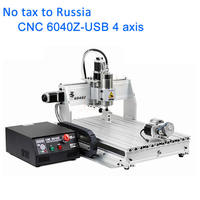 Milling Machine LY 6040 4 Axis Mach3 Auto Control Engraving Cutting Machine With 1 5KW VFD