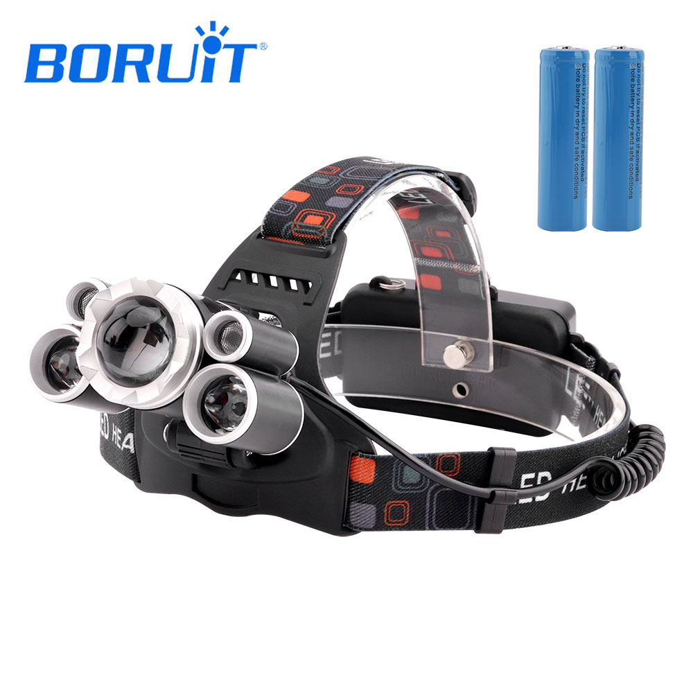 BORUIT XML T6 LED Headlamp Zoomable Headlight Powerful Flashlight Forehead White Light Use 18650 Battery Head Torch For Camping аксессуар защитное стекло для huawei p20 pro full screen svekla blue zs svhwp20pro fsblue