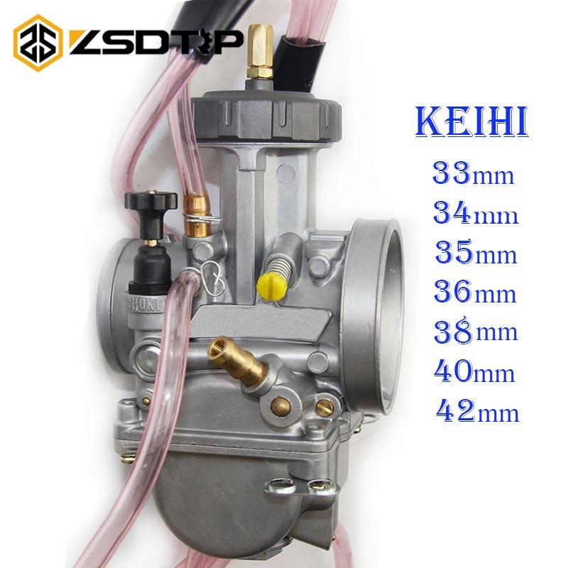 ZSDTRP Universal Big Racing Motorcycle PWK Keihin Carburetor Modify 33 34 35 36 38 40 42mm Fit On 200cc To 500cc Motor