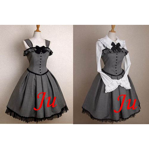 Gothic Lolita Punk Fashion Outfit Dress Cosplay Costume Tailor-made[CK541]