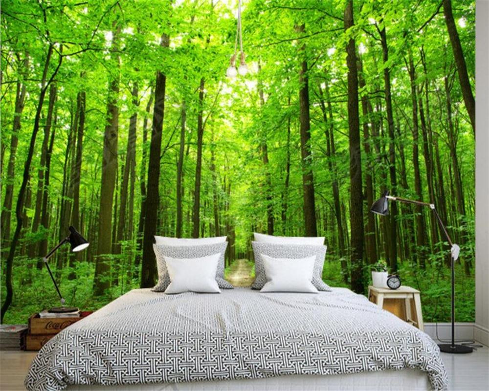 landscape 3d forest living beibehang custom wallpapers