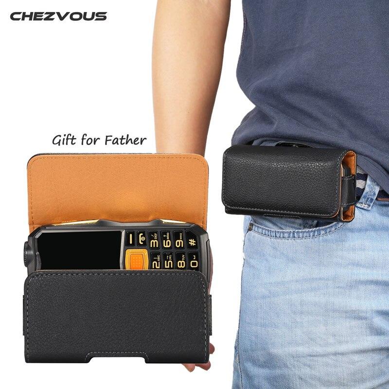 Chezvous 2 Szie поясная сумка чехол для мобильного телефона для пожилых людей поясная сумка для ZTE L660 для neken EN3