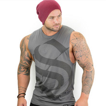 FRMARO GYMS Clothing Men Fitness Shirts Cotton Men Tank Top Workout Bodybuilding Men Sportwear Tank Top Sleeveless Vest