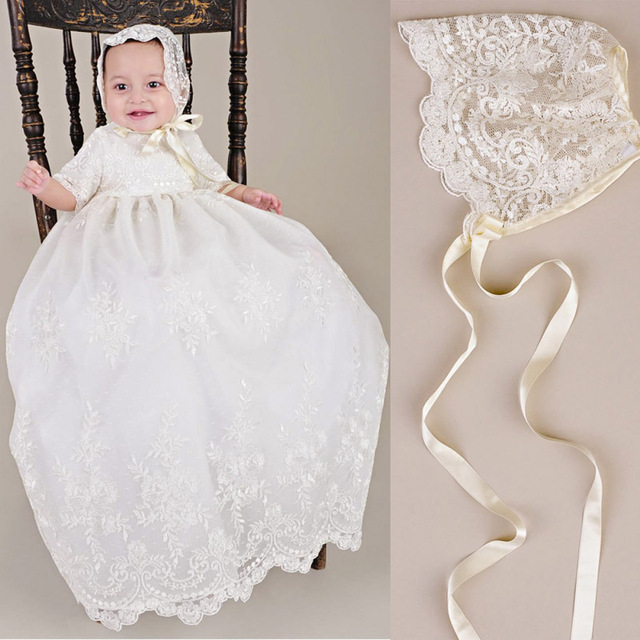 e9412e0a86cd ADK Baby Girls Baptism Dresses Christening Gown toddler Infant ...