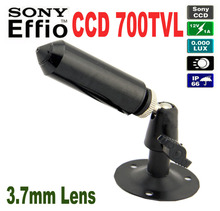 Effio-e CCD 700TVL Mini Bullet HQCAM Camera Sony Peephole Camera With Bracket for Security dvr CCTV Industrial surveillance cam