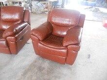 Antique European concise style Creative loft genuine leather single sofa chair living room sofa chairs recliner swivle chair & Leather Chairs Recliner Promotion-Shop for Promotional Leather ... islam-shia.org