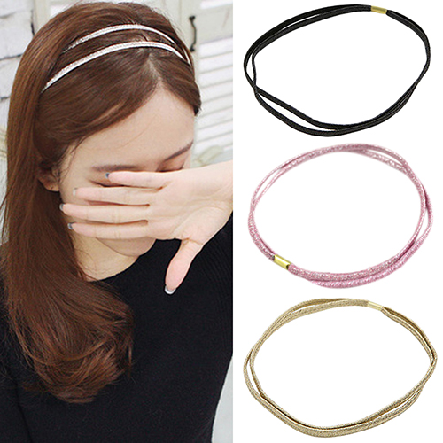 2016 Fashion Elastic Headband Head Piece Hair Band Jewelry for Women Girl Lady 5 Colors metting joura vintage bohemian ethnic tribal flower print stone handmade elastic headband hair band design hair accessories