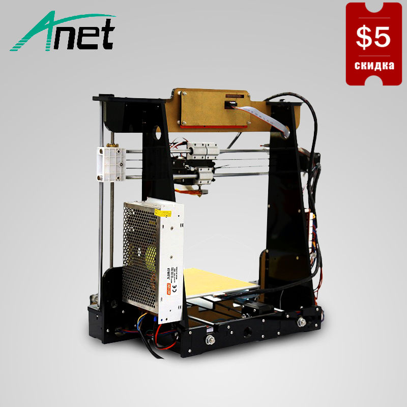 ANET A8 3D Printer Prusa i3 High Precision 3D Printer Easy Assembly ABS/PLA Filament LCD Screen 8GB SD Card Send From Moscow 3d printer kit new prusa i3 reprap anet a6 a8 8gb sd pla plastic as gifts express shipping from moscow russian warehouse
